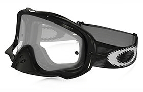 OAKLEY CROWBAR MX JET BLACK SPEED GOGGLES CLEAR LENS