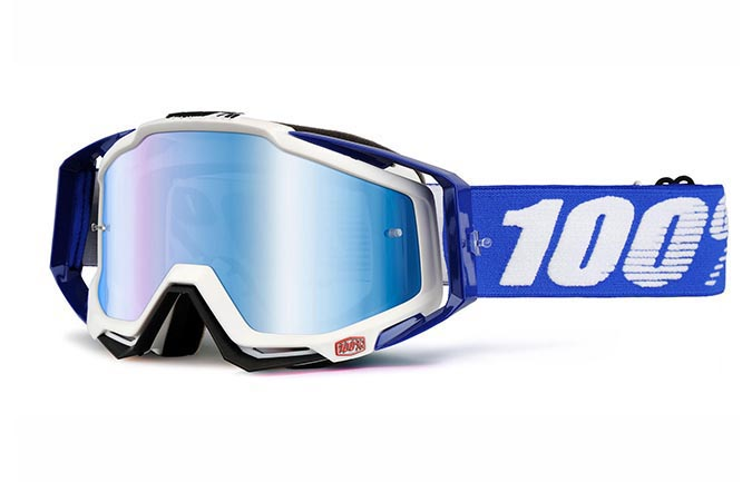 100% GOGGLE RACECRAFT COBALT BLUE MIRROR LENS