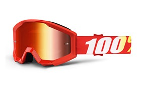 100% STRATA JUNIOR FURNACE GOGGLE - RED MIRROR LENS 2019
