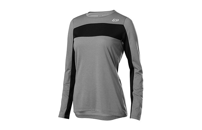 FOX WOMENS RANGER DR LONG SLEEVE JERSEY PEWTER