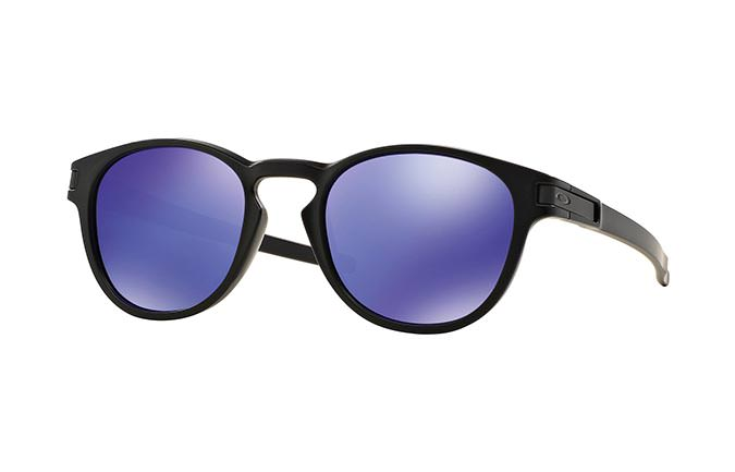 SUNGLASSES OAKLEY LATCH MATTE BLACK/VIOLET IRIDIUM