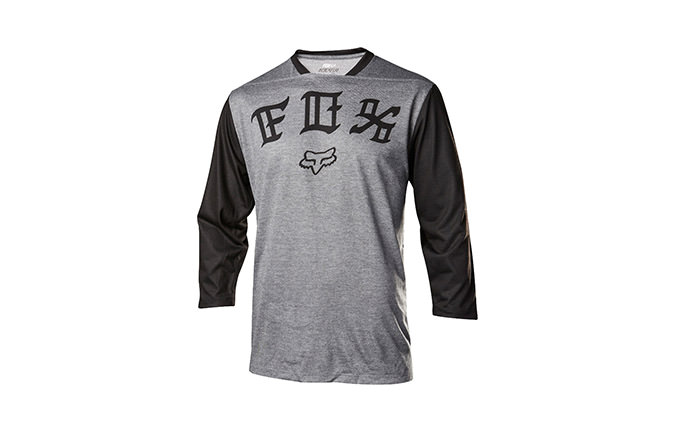 FOX INDICATOR 3/4 JERSEY HEATHER GREY