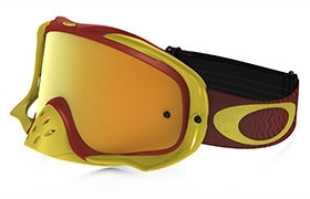 OAKLEY CROWBAR SHOCKWAVE RED/YELLOW GOGGLES 24K IRIDIUM
