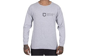 COMMENCAL LONG SLEEVE SHIELD T-SHIRT HEATHER GREY