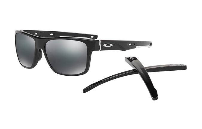 SUNGLASSES OAKLEY CROSSRANGE POLISHED BLACK/BLACK IRIDIUM