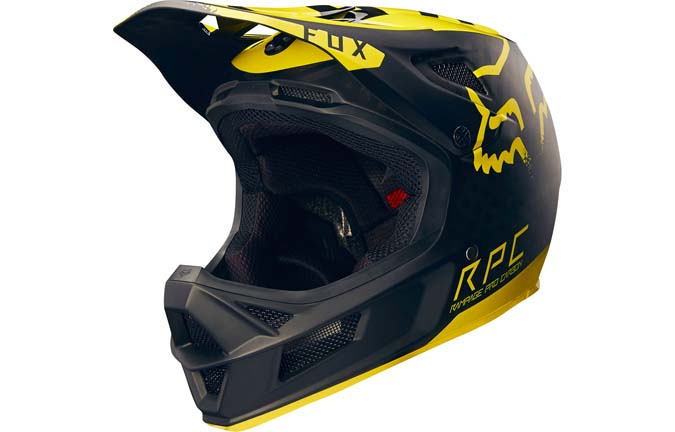 FOX RAMPAGE PRO CARBON HELMET YELLOW