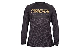 COMMENCAL LONG SLEEVE JERSEY BLACK/GOLD