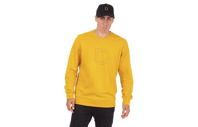 COMMENCAL SHIELD CREWNECK MUSTARD 2020