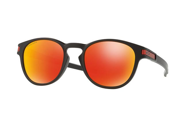 SUNGLASSES OAKLEY LATCH MATTE BLACK/PRIZM RUBY
