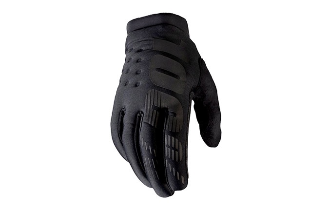 100% BRISKER GLOVES BLACK/GREY