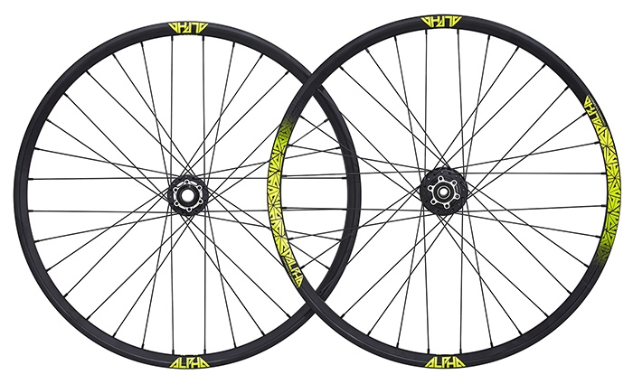 RIDE ALPHA DH WHEELSET 650B YELLOW