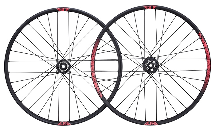 RIDE ALPHA ENDURO 26  PINK WHEELSET