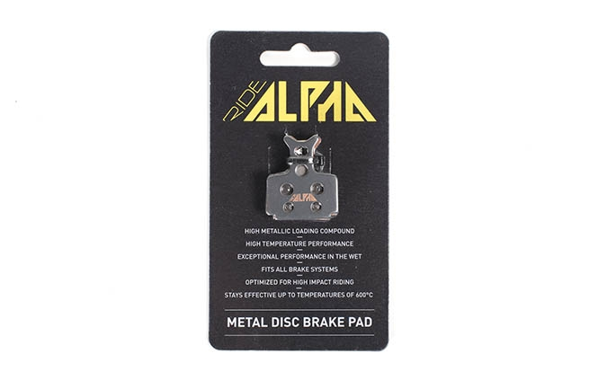 RIDE ALPHA SINTERED BRAKE PADS FOR FORMULA THE ONE/R1/MEGA/RX 2016