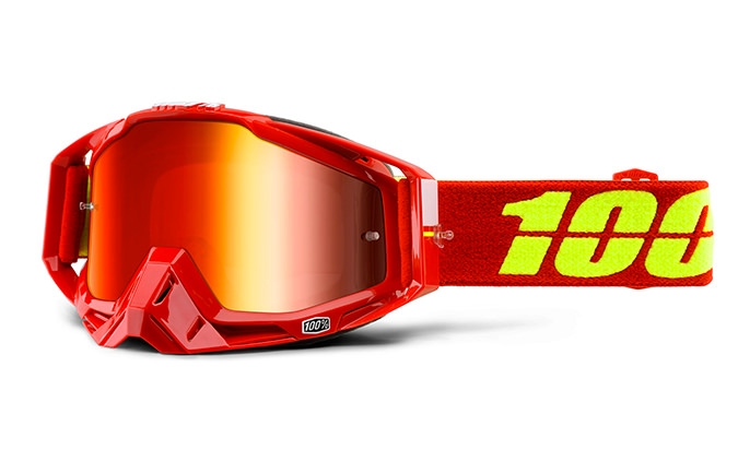 100% GOGGLE RACECRAFT CORVETTE MIRROR RED LENS
