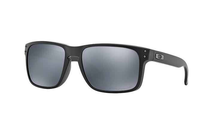 SUNGLASSES OAKLEY HOLBROOK MATTE BLACK/BLACK IRIDIUM POLARIZED