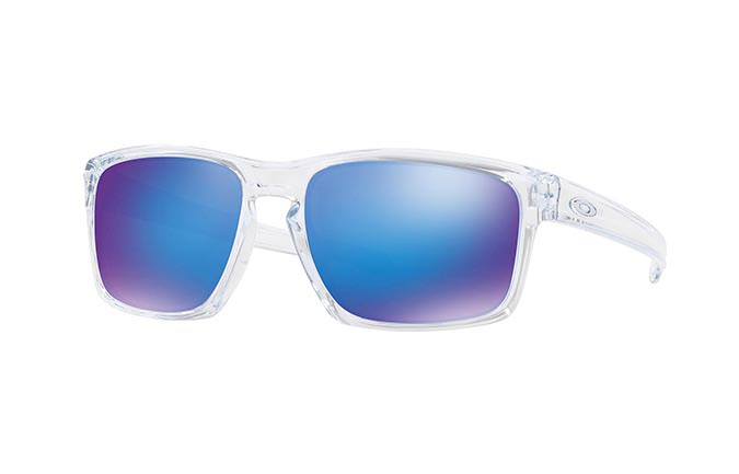 SUNGLASSES OAKLEY SLIVER POLISHED CLEAR/SAPPHIRE IRIDIUM