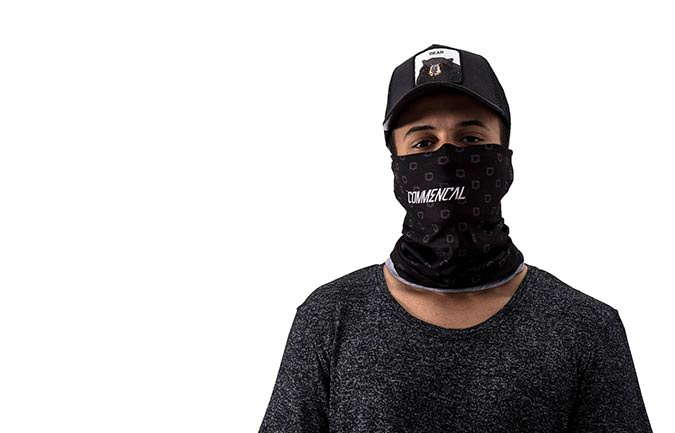 COMMENCAL MICROFIBER BUFF NECKWARMER BLACK