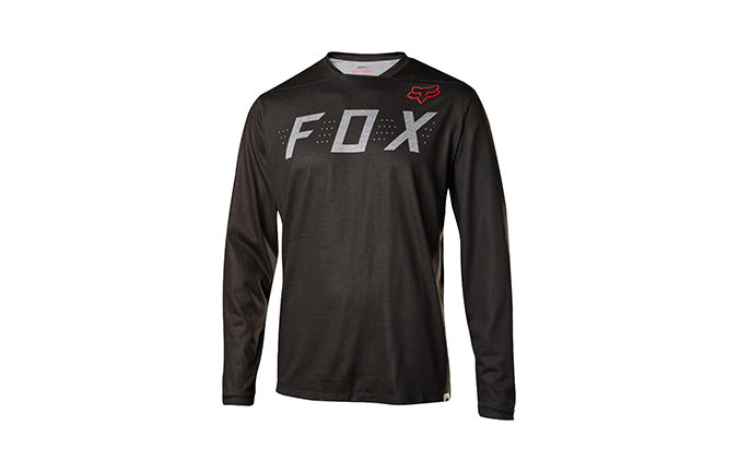 FOX INDICATOR LONG SLEEVE JERSEY HEATHER BLACK