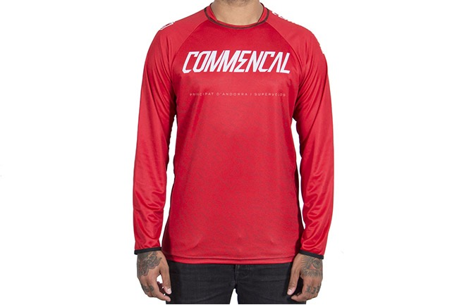 LONG SLEEVE COMMENCAL JERSEY RED 2019