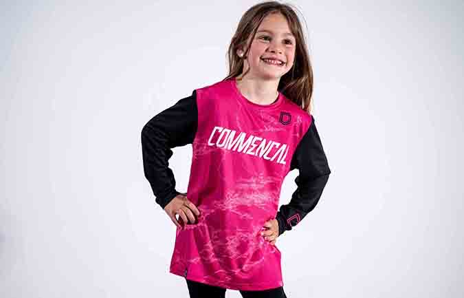 COMMENCAL KID CUSTOMIZABLE JERSEY PINK