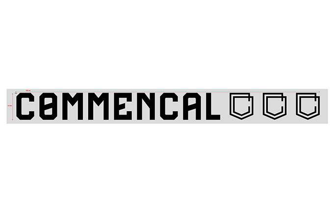 COMMENCAL TRADITIONAL STICKER LARGE BLACK