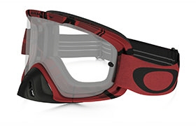 OAKLEY O FRAME 2.0 MX INTIMIDATOR BLOOD RED GOGGLES CLEAR LENS