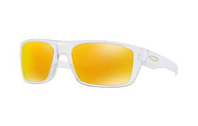 SUNGLASSES OAKLEY DROP POINT MATTE CLEAR/FIRE IRIDIUM