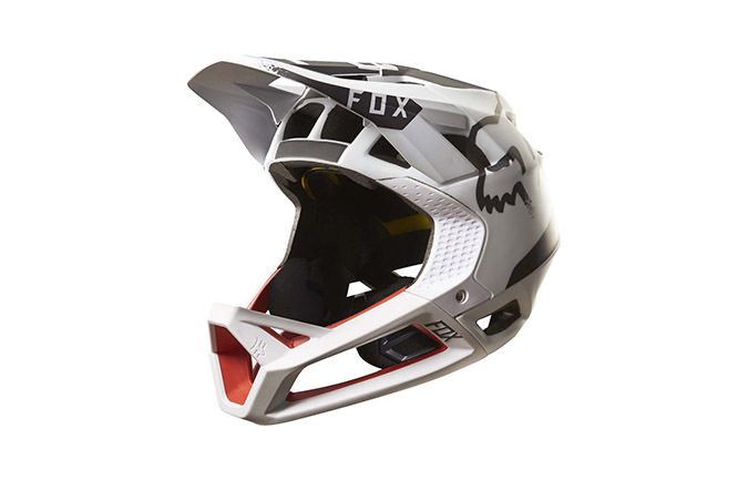 FOX PROFRAME MOTH HELMET WHITE/RED