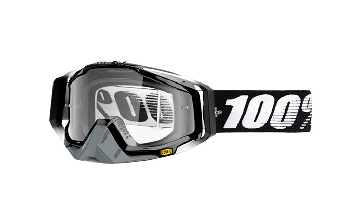 100% RACECRAFT ABYSS GOGGLES - CLEAR LENS 2020