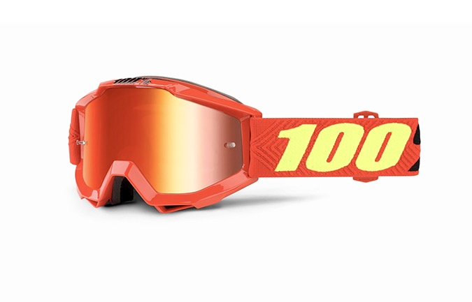 100% ACCURI YOUTH SAARINEN GOGGLES - RED MIRROR LENS