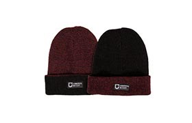REVERSIBLE BEANIE BLACK/BORDEAUX