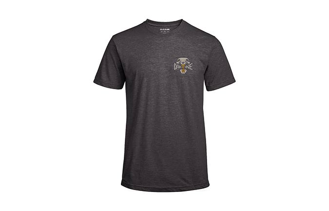 DAKINE OVERBITE SHORT SLEEVE TECH T HEATHER BLACK 2018