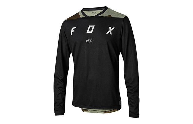 FOX INDICATOR MASH LONG SLEEVE JERSEY CAMO BLACK 2018