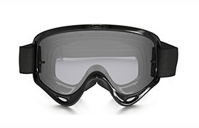 OAKLEY XS O FRAME MX JET BLACK KID GOGGLES CLEAR LENS