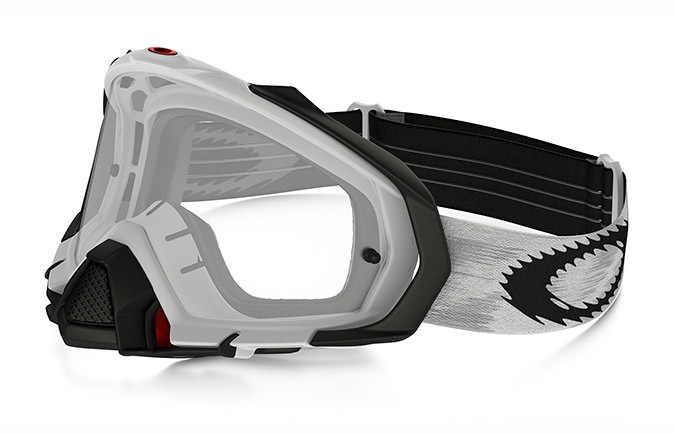 OAKLEY MAYHEM PRO MATTE WHITE SPEED GOGGLES CLEAR LENS