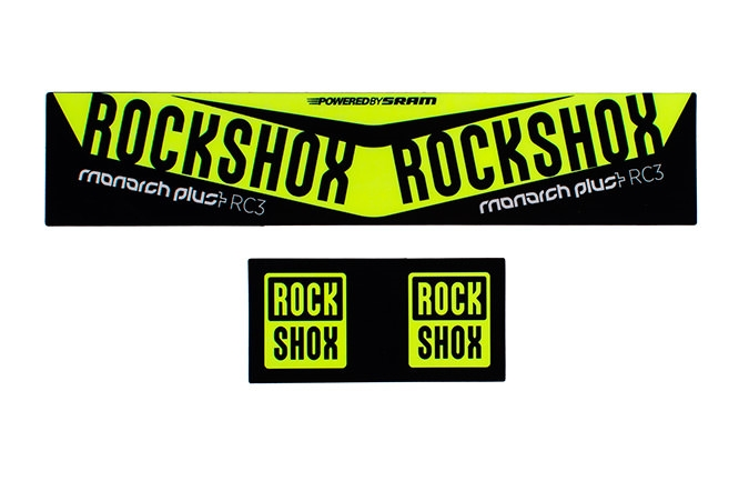 ROCKSHOX MONARCH PLUS DEBONAIR KIT STICKER NEON YELLOW
