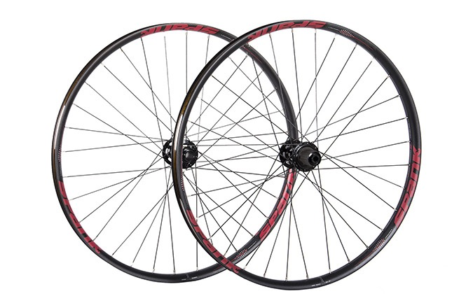 "SPANK SPIKE  350 VIBROCORE WHEELSET 29"" RED"