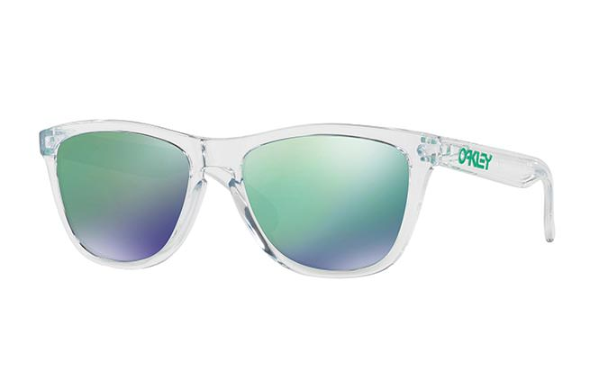 SUNGLASSES OAKLEY FROGSKINS CRYSTAL CLEAR/JADE IRIDIUM