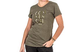T-SHIRT 3 LINES OLIVE GIRLY