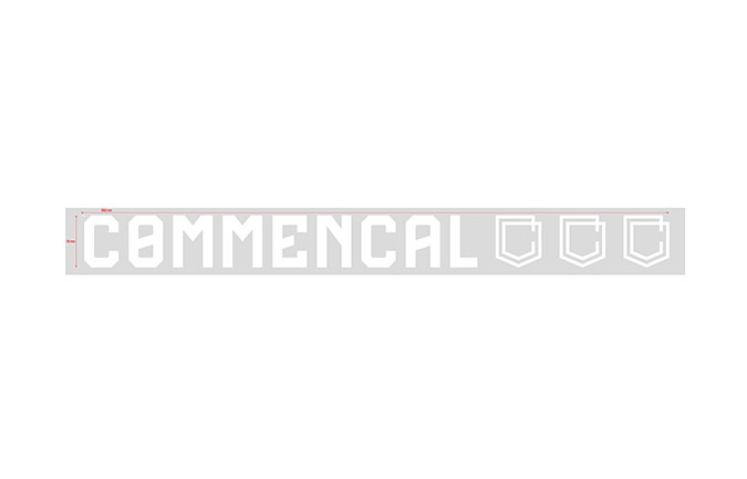 COMMENCAL WINDOW STICKER SMALL WHITE