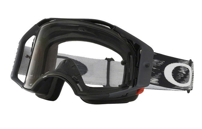 OAKLEY AIRBRAKE MX JET BLACK SPEED GOGGLES CLEAR LENS