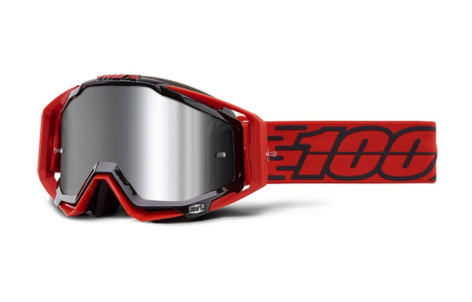100% RACECRAFT TORO GOGGLE - INJECTED SILVER FLASH MIRROR LENS 2019