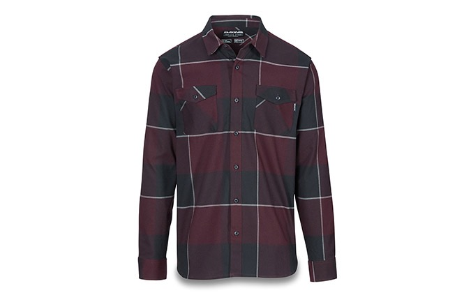 DAKINE UNDERWOOD FLANNEL SHIRT PLUM SHADOW/ASPHALT 2019