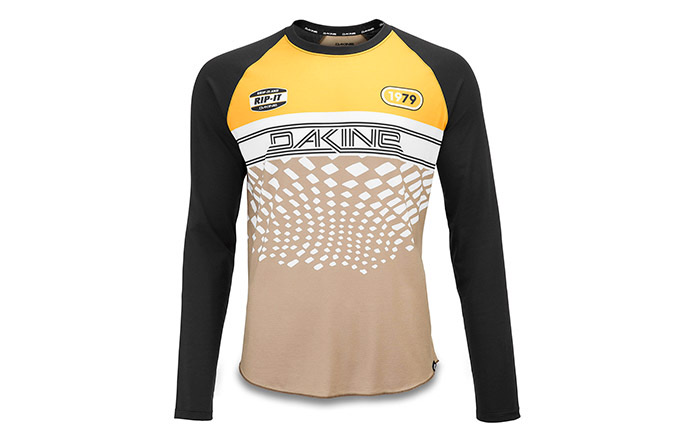 DAKINE LONG SLEEVE DROPOUT JERSEY GOLDEN GLOW/STINGRAY