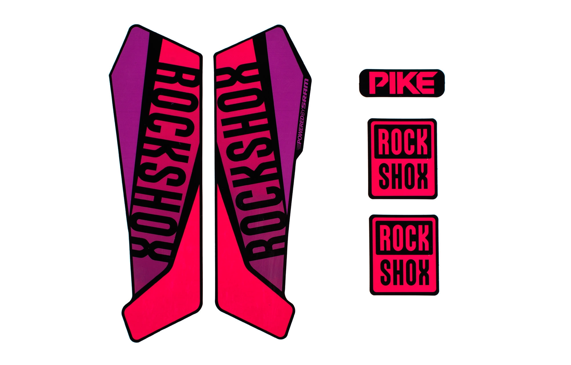 Commencal 2016 Kit Sticker Rock Shox Pike 2016 Purple