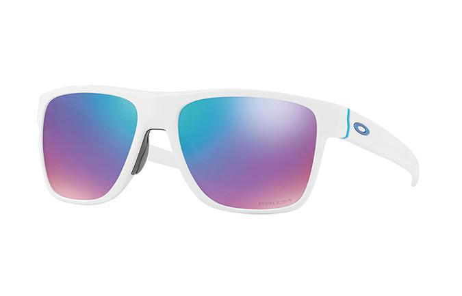 SUNGLASSES OAKLEY CROSSRANGE XL POLISHED WHITE/PRIZM SAPPHIRE SNOW