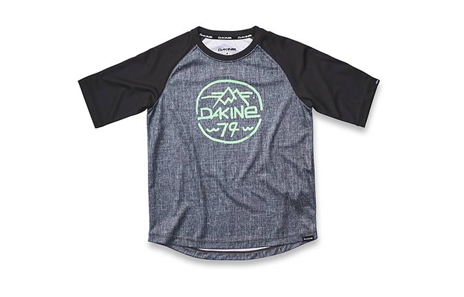 DAKINE DROPOUT KIDS SHORT SLEEVE JERSEY CARBON/BLACK