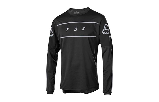 FOX FLEXAIR FINE LINE LONG SLEEVE JERSEY BLACK