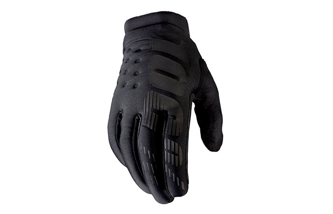 100% KIDS BRISKER GLOVES BLACK/GREY 2020