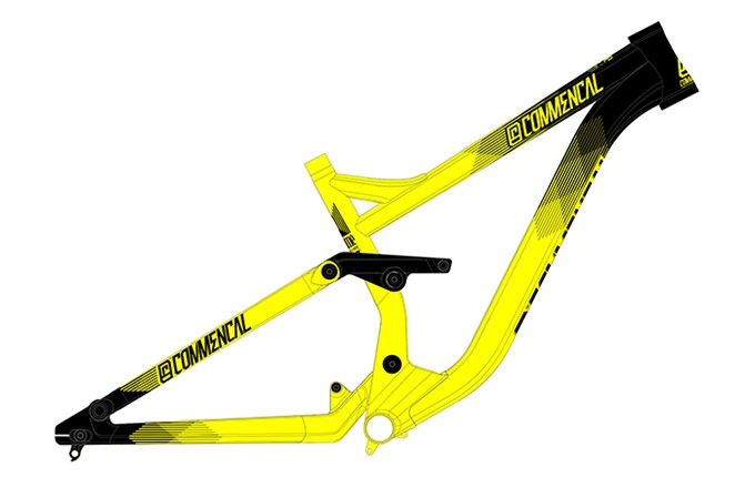 FRAME SUPREME DH V3 650B YELLOW 2016